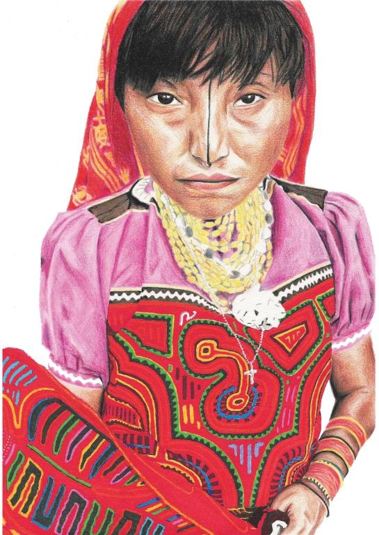 Female pencil portrait