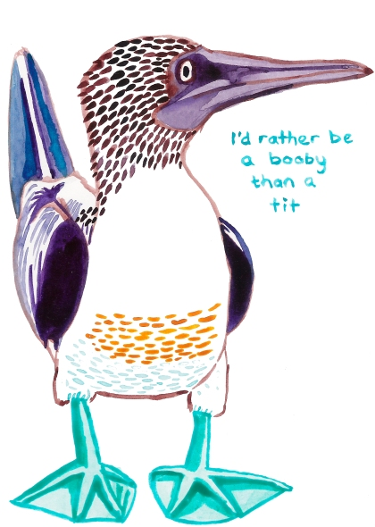 rather be a booby than a tit